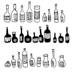 Bottles Collection Doodle Vector