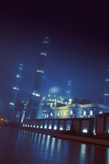 Night view of the mosque