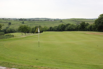 A golf course during the summer of 2016