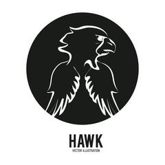 Haluk animal icon. Bird design. Vector graphic