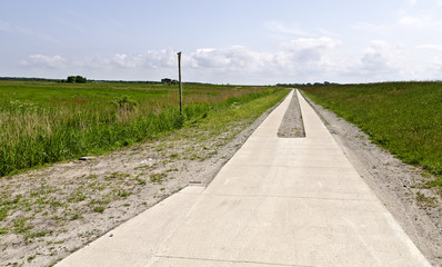Weg aus Betonplatten