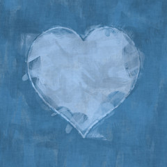 heart brush stroke background