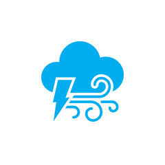 Lightning and wind icon