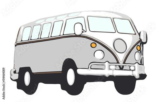 brauner vw bus hippie vektor stockfotos und lizenzfreie. Black Bedroom Furniture Sets. Home Design Ideas