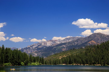 peaceful afternoon at Hume Lake, Sequoia national forest