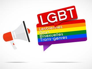 mégaphone : LGBT (en français)