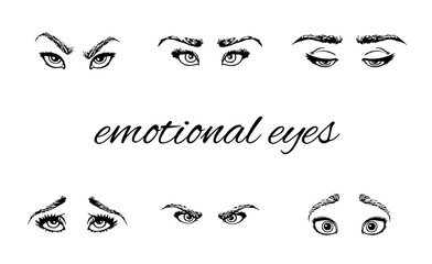 emotional eyes and brows