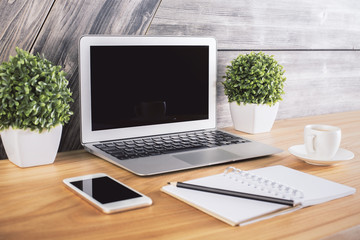 Creative office desk side