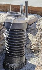 Aerobic septic system tank riser