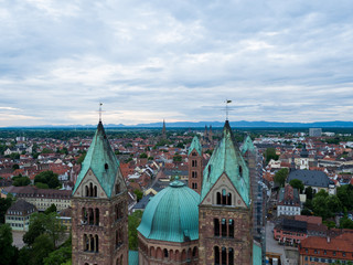 Speyer Dom Rheinland Pfalz Kaiserdom Rhein Fliughafen Luftbild Brezel