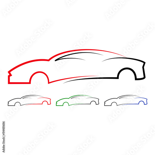 quotabstract car design logo vector 6quot stock image and