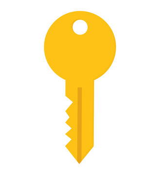 Security system concept represented by key icon. isolated and flat illustration