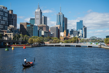 Melbourne the most liveable city in the world, Victoria state of Australia.