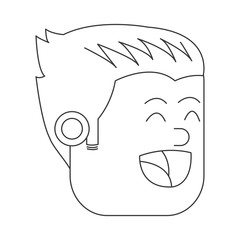 face of happy man icon