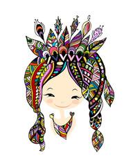 Female portrait, ethnic beauty for your design