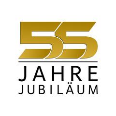 Einfach Gold Jubiläums Logo Jahre 55
