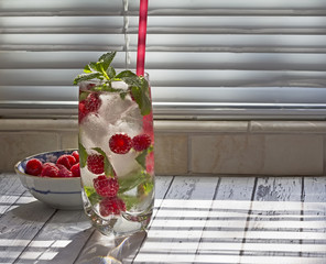 Summer cold drink. Fruit Infused Water .