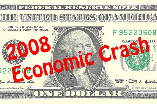 2008 Economic Crash - business concept