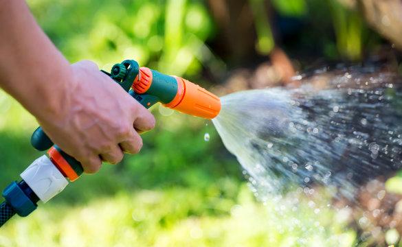 Gun nozzle hose water sprayer watering garden