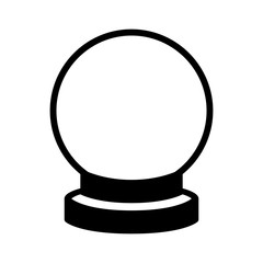 Crystal ball of fortune telling flat icon for apps and websites
