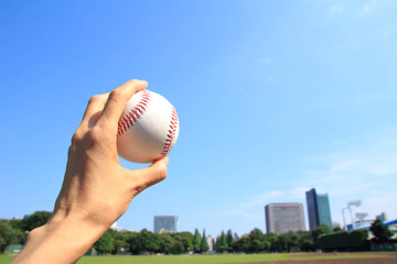 Baseball and the city of baseball field