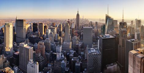 Wall Mural - New York skyline at sunset, USA.