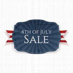 Fourth of July Sale Holiday Label