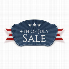 Fourth of July Sale Label