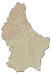 Relief map of Luxembourg - 3D-Illustration