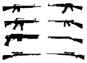 Gun Rifle Icon Silhouette
