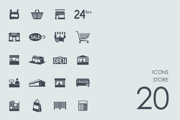 Set of store icons