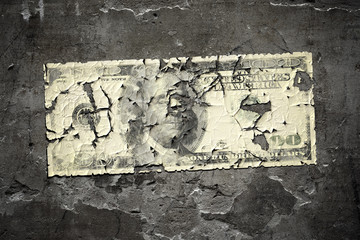 worn 100 dollar note