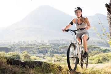 Maure woman cycling