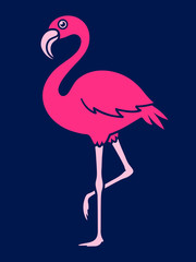 Vector Image Of Flamingo