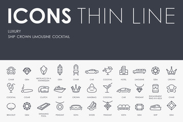 Luxury Thin Line Icons