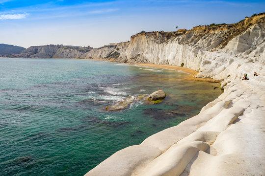 """The white cliff called """"Scala dei Turchi"""" in Sicily"""