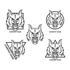 Set of Wolf logo
