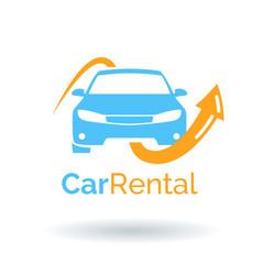 Car rental logo design. Vector icon illustration