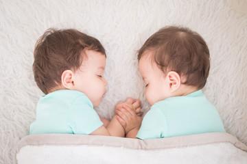 baby twins sleeping
