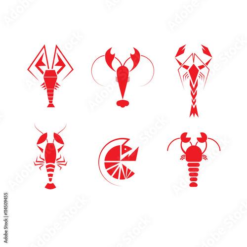 crawfish logo set stock image and royalty free vector files on rh fotolia com crawfish logo polo crayfish lagoons tenterden