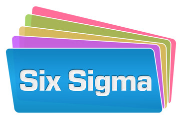 Six Sigma Colorful Squares Stack