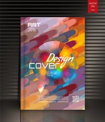 Annual report cover. Creative cover.