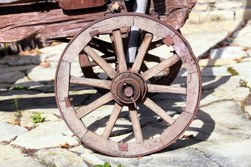 old wheel carts