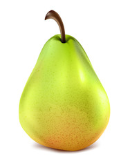 Pear fruit isolated