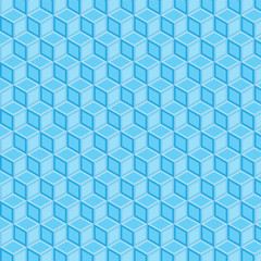 blue double filled geometric pattern background