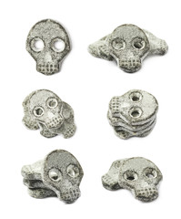 Skull shaped licorice candy