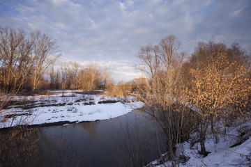 Early spring on the river