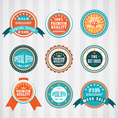Vintage labels vector set. Retro badges vector set. Vector set.