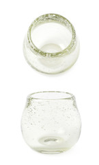 Glass mate calabash vessel isolated