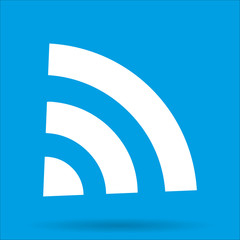 WI-FI icon wireless connection with shadow isolated on a blue background, vector illustration EPS10